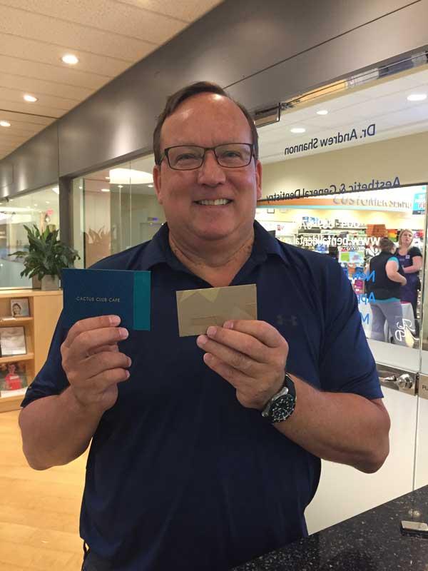 referral contest winner Kevin glowbal gift certificate