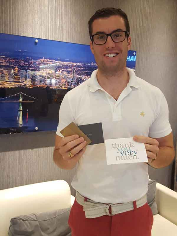 monthly referral contest winner Daniel Coles
