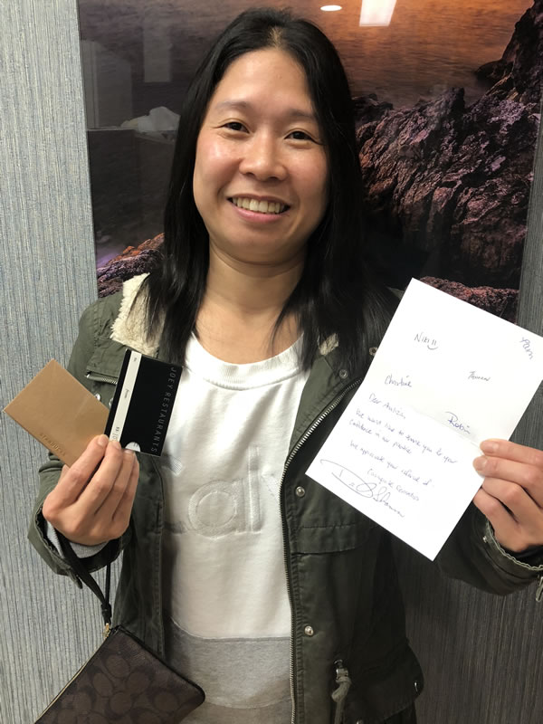 Referral Winner: Analiza L. from Vancouver